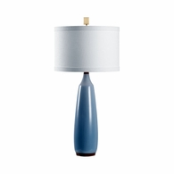 69462 Chelsea House Pam Cain Ceramic Gray Blue/Brown Glaze Gulf City Lamp - Blue/Brown B