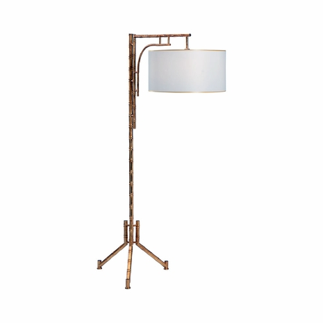 69490 Chelsea House Iron Antique Gold Bamboo Floor Lamp
