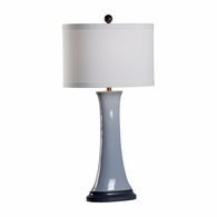 69501 Chelsea House Pam Cain Ceramic Light Gray Glaze Hopper Lamp - Gray
