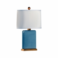 69510 Chelsea House Pam Cain Ceramic Heather Gray Glaze Slender Lamp - Heather