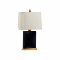 69512 Chelsea House Pam Cain Ceramic Royal Blue Glaze Slender Lamp - Blue