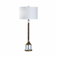 69515 Chelsea House Pam Cain Iron/Crystal Antique Gold/Clear Key West Lamp