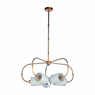 69589 Chelsea House Bradshaw Orrell Iron/Fabric Antique Gold Leaf/Cream Ring Chandelier - Gold