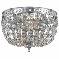 708-CH-CL-MWP Crystorama Crystorama 2 Light Clear Crystal Chrome Ceiling Mount I