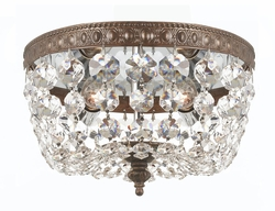 708-EB-CL-MWP Crystorama Crystorama 2 Light Clear Crystal Bronze Ceiling Mount