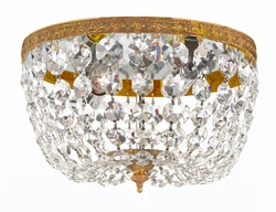 708-OB-CL-I Crystorama Crystorama 2 Light Clear Italian Crystal Olde Brass Ceiling Mount