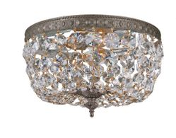 710-EB-CL-I Crystorama Crystorama 2 Light Clear Italian Crystal Bronze Ceiling Mount