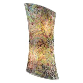 73020-2 ELK Lighting Avalon 2-Light Sconce in Satin Nickel with Multi-colored Crackle Glass