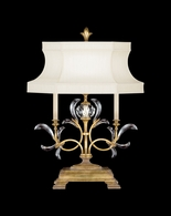 769110ST Fine Art Lamps Beveled Arcs Gold 34 inch In Socket On-Off 60W 1 Lt Table Lamp
