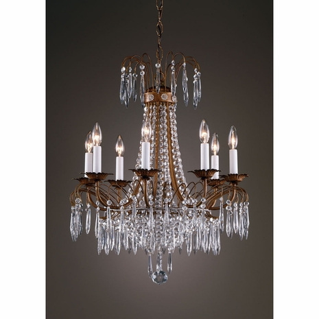 7735 Wildwood Lamps Crystal Chandelier