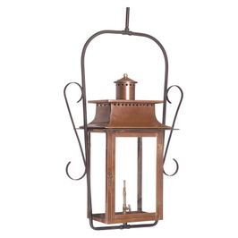 7908-WP Elk Maryville Outdoor Gas Ceiling Lantern In Aged Copper
