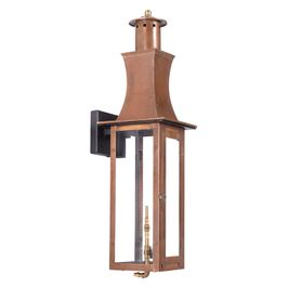 7909-WP Elk Maryville Outdoor Gas Wall Lantern In Aged Copper