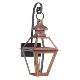 7919-WP Elk Bayou Outdoor Gas Wall Lantern In Aged Copper