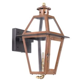 7925-WP Elk Grande Isle Outdoor Gas Wall Lantern In Aged Copper