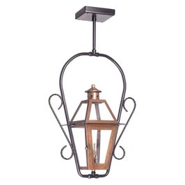 7928-WP Elk Grande Isle Outdoor Gas Ceiling Lantern In Aged Copper