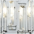 81370/2 ELK Lighting Crosby 2-Light Vanity Sconce in Polished Chrome with Clear Crystal