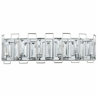81372/4 ELK Lighting Crosby 4-Light Vanity Sconce in Polished Chrome with Clear Crystal