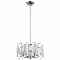 81373/5 ELK Lighting Crosby 5-Light Chandelier in Polished Chrome with Clear Crystal