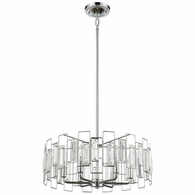81374/6 ELK Lighting Crosby 6-Light Chandelier in Polished Chrome with Clear Crystal