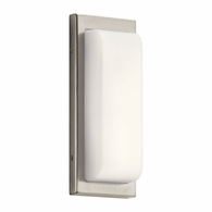 83895 Elan Contemporary Brushed Nickel Wall Sconce LED