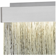 85110/LED ELK Lighting Meadowland 1-Light Sconce in Satin Aluminum and Chrome with Textured Glass - Integrated LED