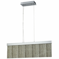 85112/LED ELK Lighting Meadowland 1-Light Island Light in Satin Aluminum and Chrome with Textured Glass - Integrated LED
