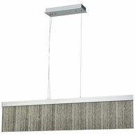 85113/LED ELK Lighting Meadowland 1-Light Island Light in Satin Aluminum and Chrome with Textured Glass - Integrated LED