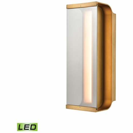 88130/LED ELK Lighting Forma Sconce in Antique Bronze with Clear Glass - Integrated LED