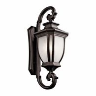 9099RZ Kichler Fixtures Traditional Rubbed Bronze Outdoor Wall 4Lt