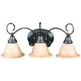 9173 Framburg Lighting Black Forest Three-Light Bathroom Wall Sconce Fixture