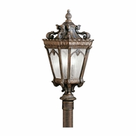 9558LD Kichler Traditional Lantern Outdoor Post Mount 3Lt