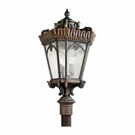 9565LD Kichler Traditional Lantern Outdoor Post Mount 4Lt