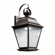 9709OZLED Kichler Fixtures Traditional Olde Bronze Outdoor Wall 1Lt LED