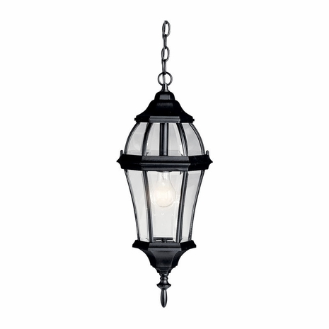 9892BK Kichler Traditional Outdoor Hanging Pendant 1Lt