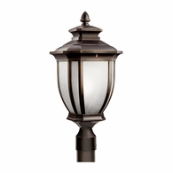 9938RZ Kichler Traditional Lantern Outdoor Post Mount 1Lt
