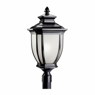 9940BK Kichler Fixtures Traditional Black Outdoor Post Mt 1Lt