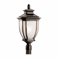 9940RZ Kichler Fixtures Traditional Rubbed Bronze Outdoor Post Mt 1Lt