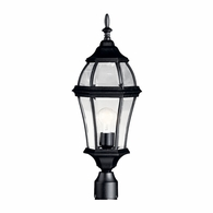 9992BK Kichler Traditional Lantern Outdoor Post Mount 1Lt