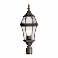 9992TZ Kichler Traditional Lantern Outdoor Post Mount 1Lt