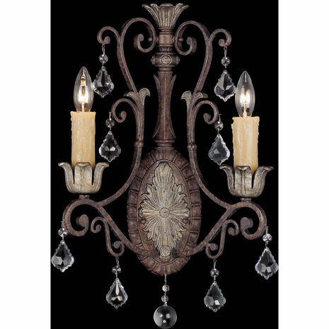 9P-1557-2-8 Savoy House Traditional Elizabeth 2 Light Sconce with New Tortoise Shell w/Silver Finish
