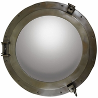 AC189A Authentic Models Bronze Porthole Mirror, Large
