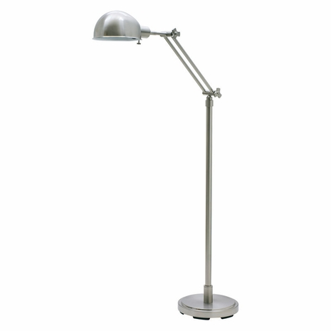 AD400-SN House of Troy Addison Adjustable Satin Nickel Pharmacy Floor Lamp