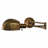 AD425-AB House of Troy Addison Antique Brass Pharmacy Wall Swing Arm Lamp