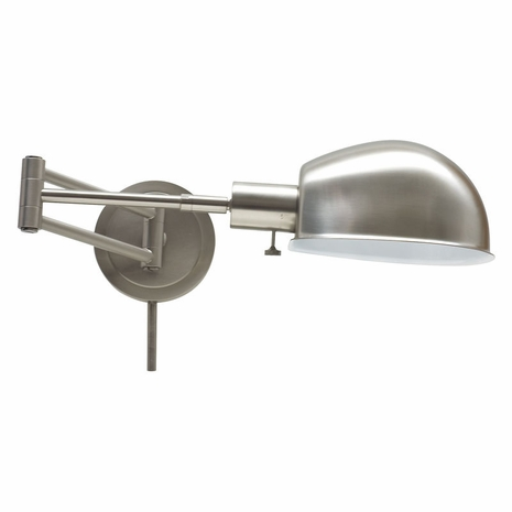 AD425-SN House of Troy Addison Satin Nickel Pharmacy Wall Swing Arm Lamp