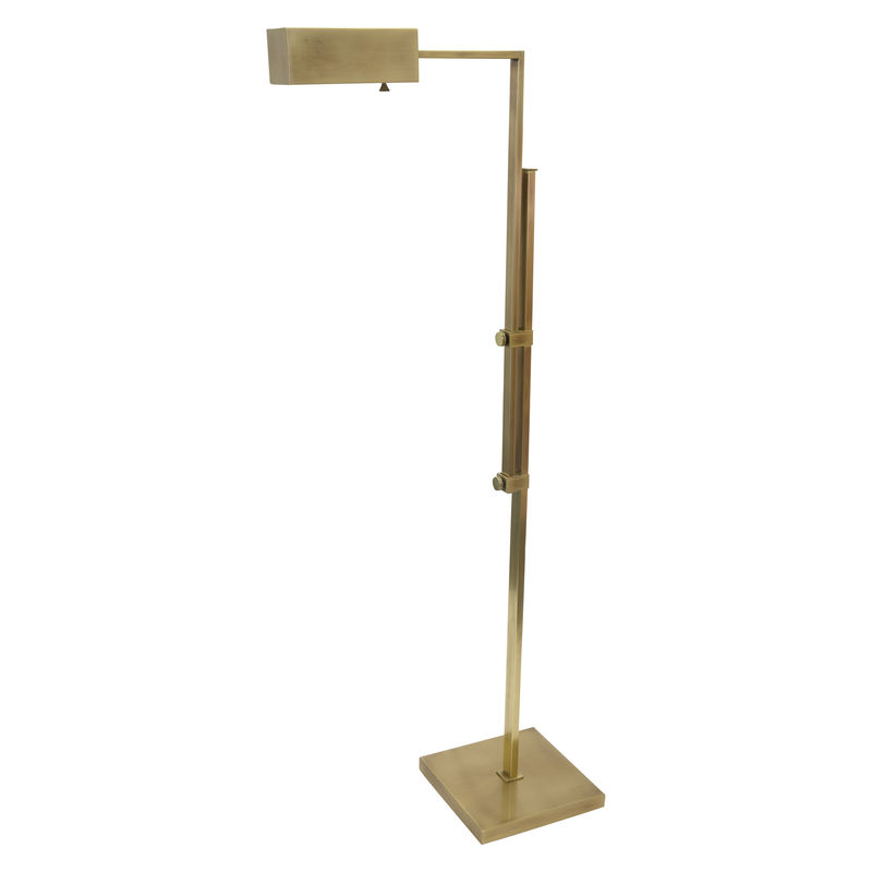AN600-AB House of Troy Andover Adjustable Floor Lamp in Antique Brass