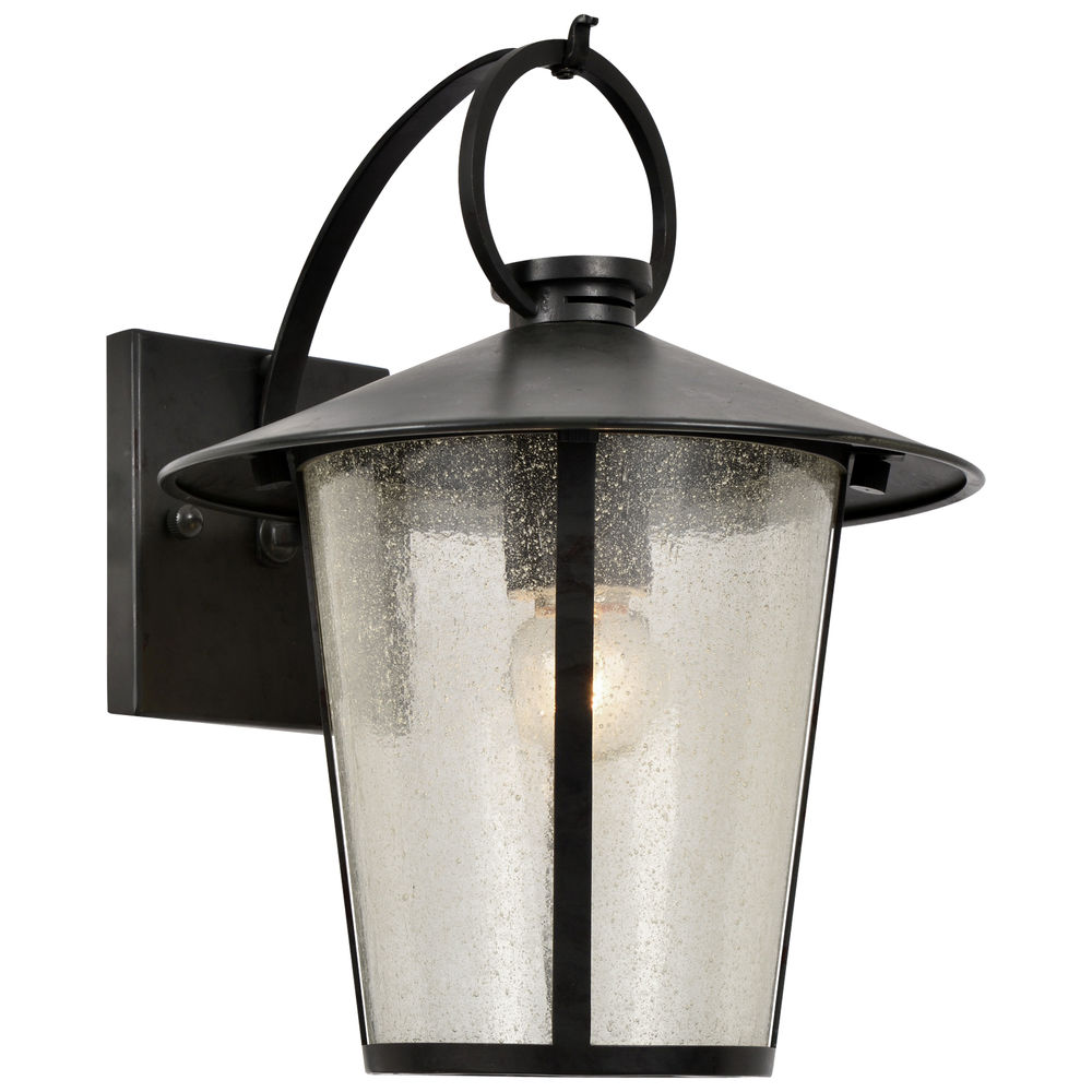 AND-9201-SD-MK Crystorama Andover Outdoor 1 Light Matte Black Wall Mount