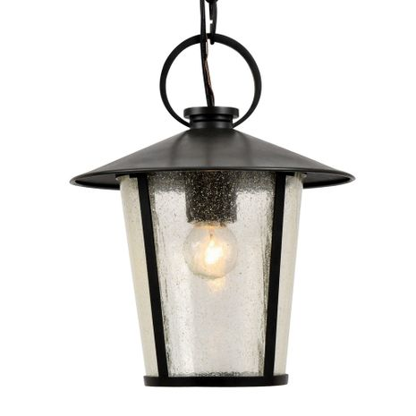 AND-9203-SD-MK Crystorama Andover Outdoor 1 Light Matte Black Chandelier