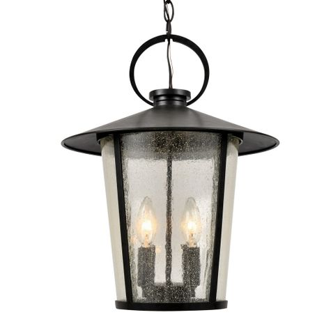 AND-9204-SD-MK Crystorama Andover Outdoor 4 Light Matte Black Chandelier