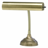"AP10-20-71 House of Troy Advent 10"" Antique Brass Piano/Desk Lamp"