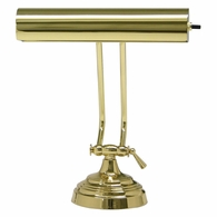 "AP10-21-61 House of Troy Advent 10"" Polished Brass Piano/Desk Lamp"